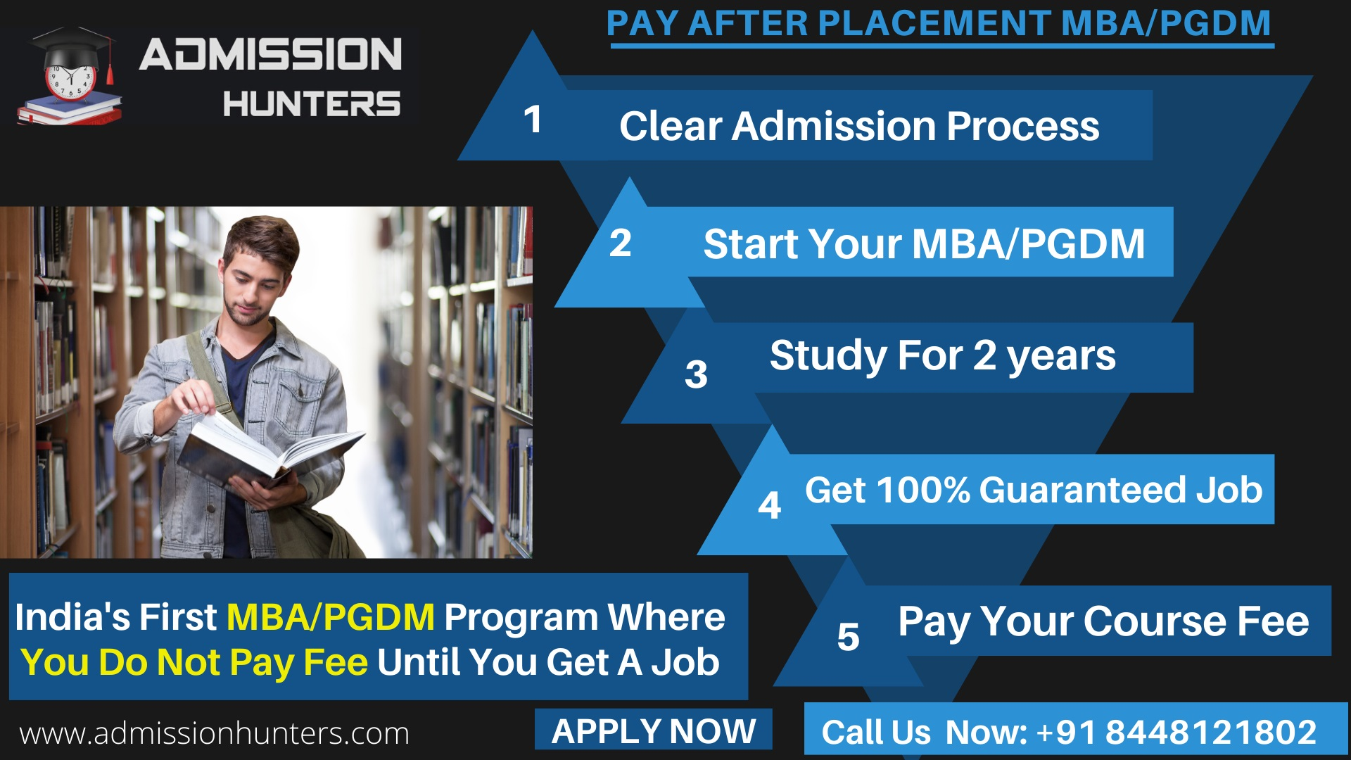 PAY AFTER PLACEMENT PROGRAM- Admission Hunters