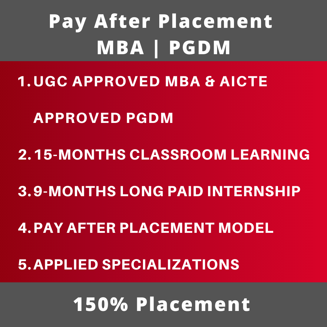 Pay After Placement MBA | PGDM Highlights